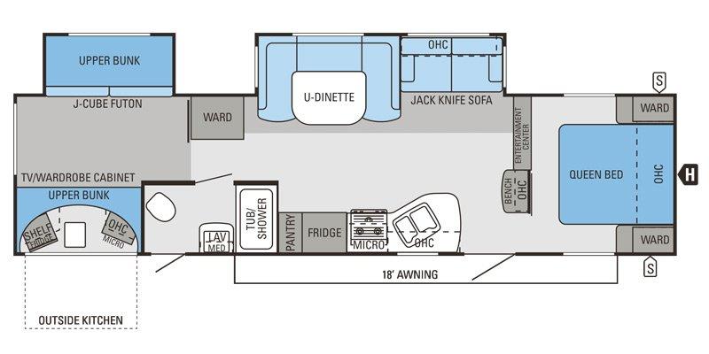 2014 JAYCO EAGLE 314BDS Floorplan