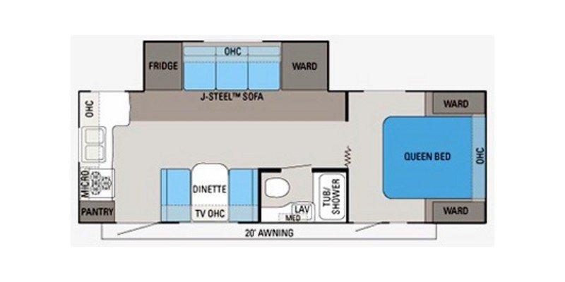 2011 JAYCO EAGLE SUPER LITE 256RKS Floorplan