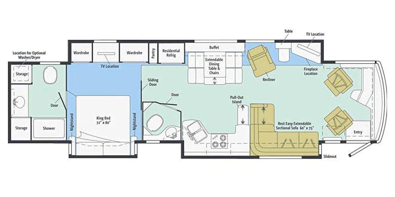 2014 ITASCA ELLIPSE 42QD Floorplan