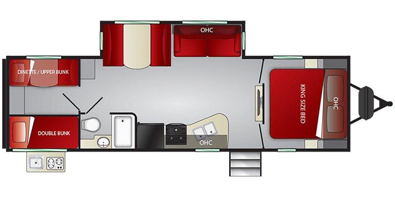 2021 CRUISER RV EMBRACE EL280 Floorplan