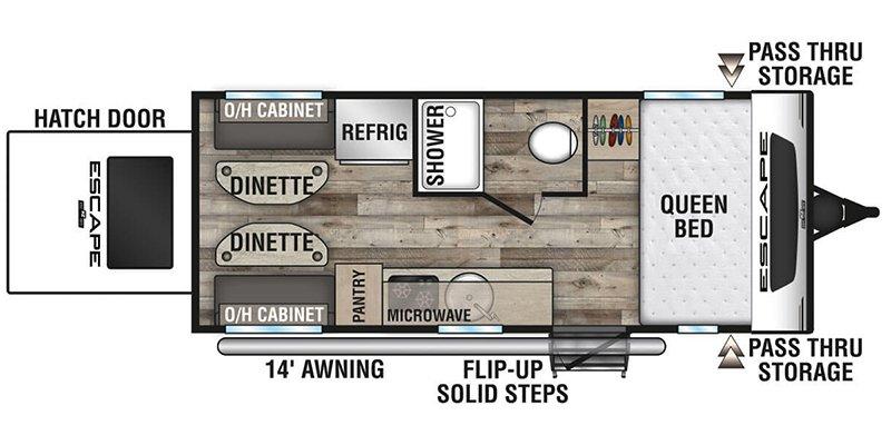 2021 KZ-RV ESCAPE E17H-OG Floorplan