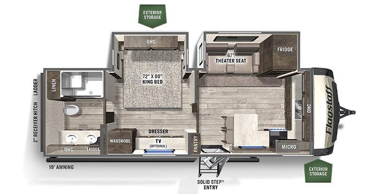 2021 FOREST RIVER FLAGSTAFF CSL 826MBR-W Floorplan