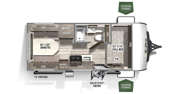 2021 FOREST RIVER E PRO 19RD Floorplan