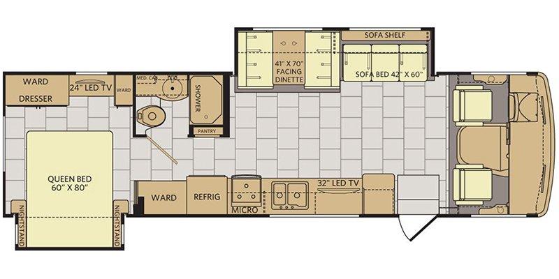 2018 FLEETWOOD FLAIR 31W-LXE Floorplan