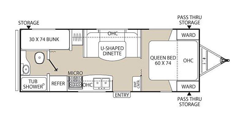 2013 COACHMEN FREEDOM EXPRESS LTZ 230BH Floorplan
