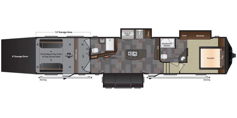 2016 KEYSTONE RV FUZION M-422 Floorplan