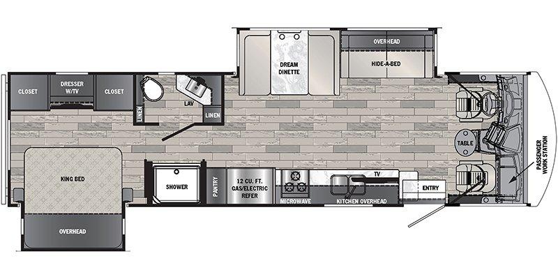 2022 FOREST RIVER GEORGETOWN 32AB GT3 Floorplan