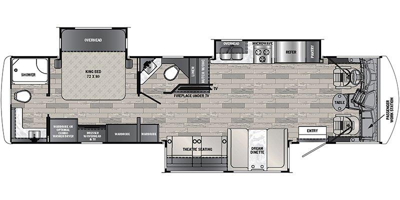 2022 FOREST RIVER GEORGETOWN 34H5 GT5 Floorplan