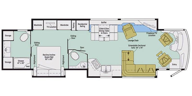2018 WINNEBAGO HORIZON 42Q Floorplan