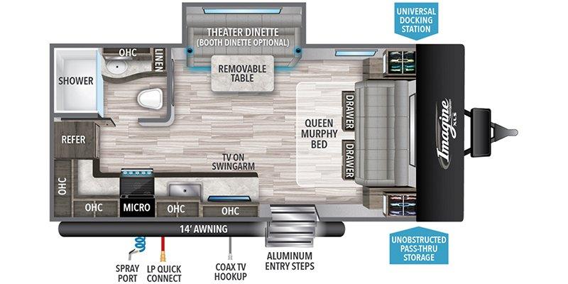 2022 GRAND DESIGN IMAGINE 17MKE Floorplan