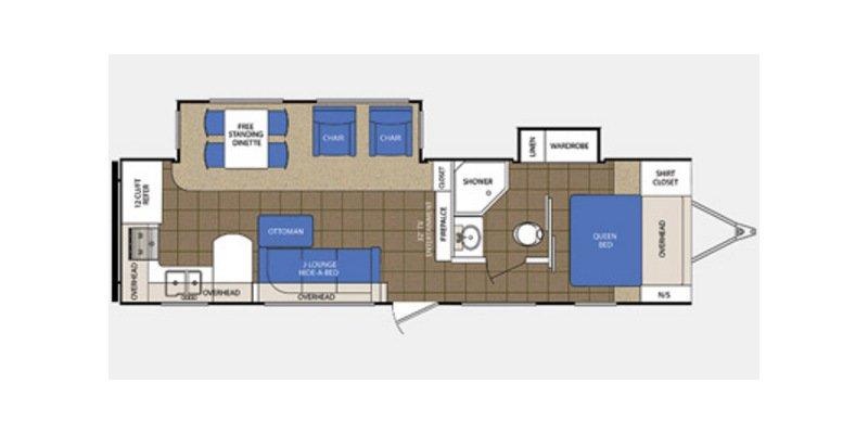 2013 PRIME TIME LACROSSE 303RKS Floorplan