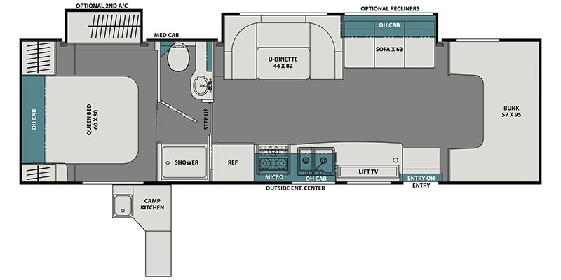 2021 COACHMEN LEPRECHAUN 319MB Floorplan