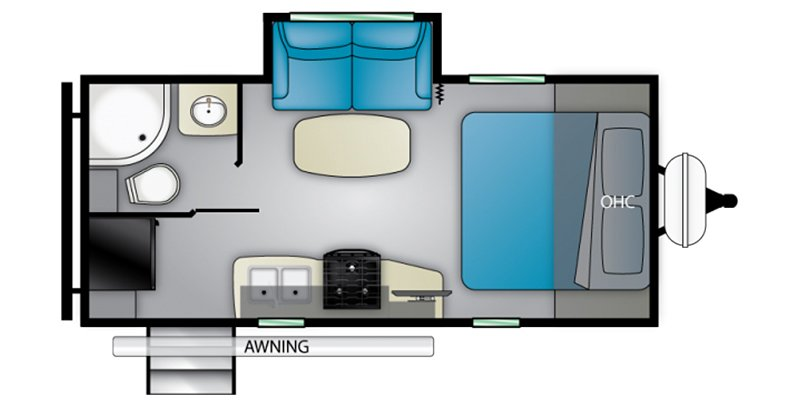 2021 HEARTLAND MALLARD M210RB Floorplan