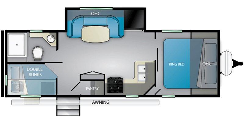 2021 HEARTLAND MALLARD M251BH Floorplan