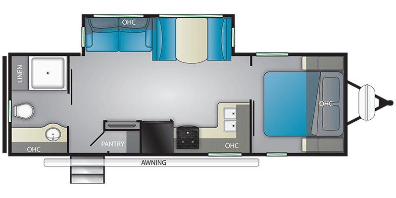 2021 HEARTLAND MALLARD M260 Floorplan