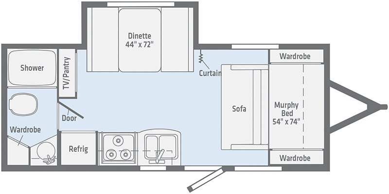 2021 WINNEBAGO MICRO MINNIE 2108DS Floorplan