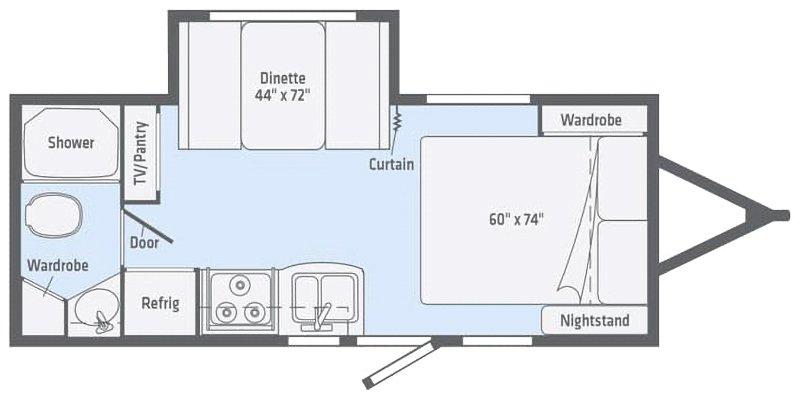 2021 WINNEBAGO MICRO MINNIE 2108FBS Floorplan