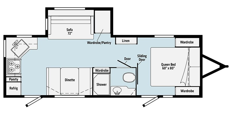 2021 WINNEBAGO MINNIE 2529RG Floorplan