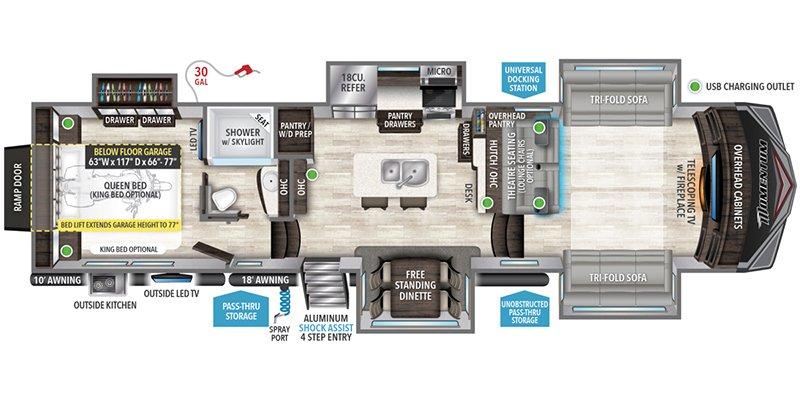 2022 GRAND DESIGN MOMENTUM 376TH Floorplan