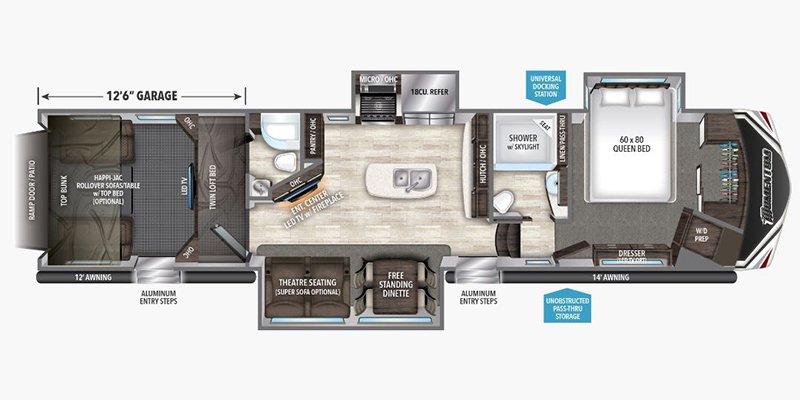 2017 GRAND DESIGN MOMENTUM 397TH Floorplan