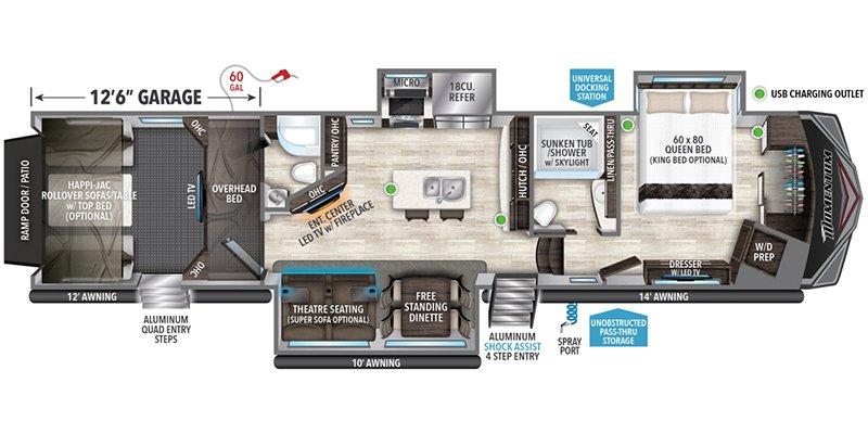 2022 GRAND DESIGN MOMENTUM 397TH Floorplan