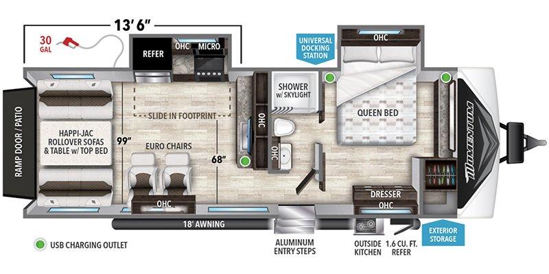 2022 GRAND DESIGN MOMENTUM G-CLASS 25G Floorplan