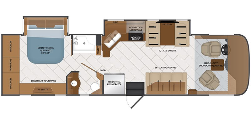2019 FLEETWOOD PACE ARROW 33D Floorplan