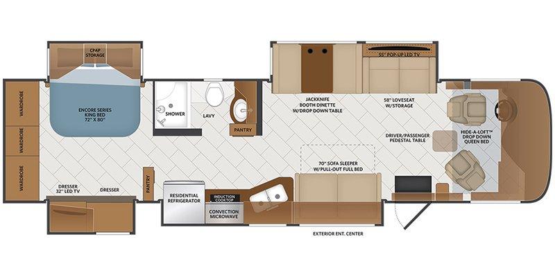 2021 FLEETWOOD PACE ARROW 35QS Floorplan