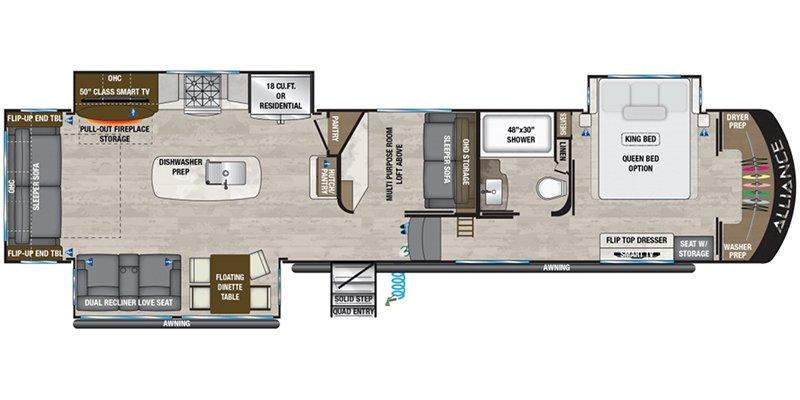 2021 ALLIANCE RV PARADIGM 390MP Floorplan