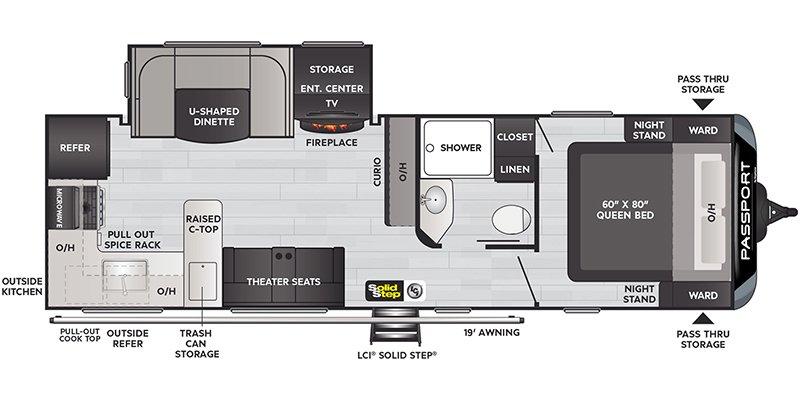 2022 KEYSTONE RV PASSPORT 2704RK Floorplan