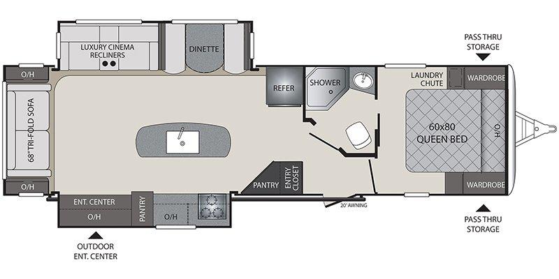 2019 KEYSTONE RV PREMIER 30RIPR Floorplan
