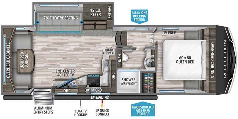 2022 GRAND DESIGN REFLECTION 150 260RD Floorplan
