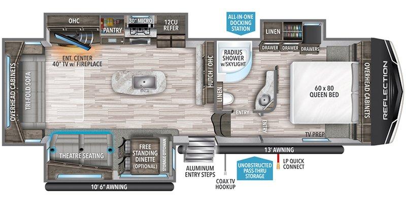 2021 GRAND DESIGN REFLECTION 303RLS Floorplan