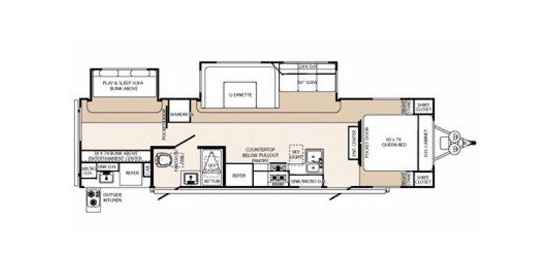2012 PALOMINO RV SABRE 310BHOK Floorplan