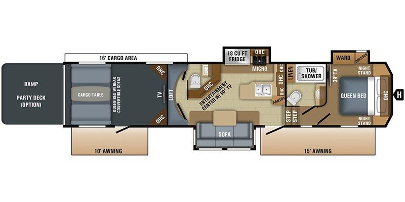 2018 JAYCO SEISMIC M-4116 Floorplan