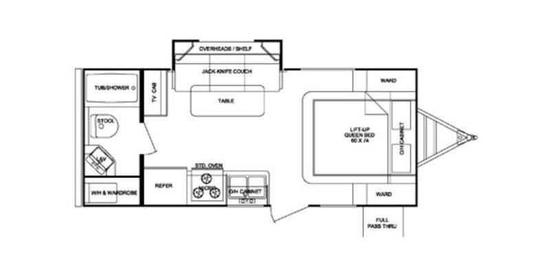 2013 CRUISER RV SHADOW CRUISER 195WBS Floorplan