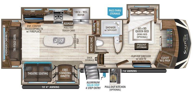 2021 GRAND DESIGN SOLITUDE 310GK Floorplan