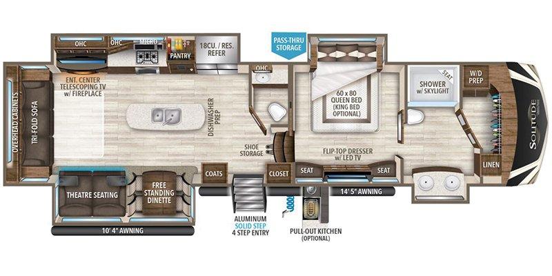 2022 GRAND DESIGN SOLITUDE 373FB Floorplan