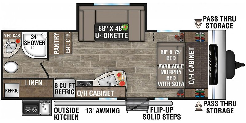 2022 VENTURE RV SONIC 220VRB Floorplan