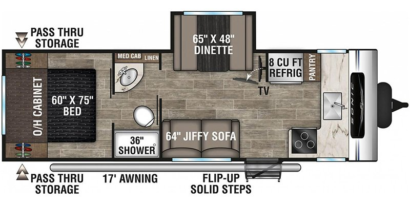 2021 VENTURE RV SONIC 241VFK Floorplan
