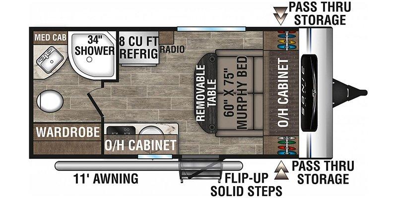 2021 VENTURE RV SONIC SL150VRB Floorplan