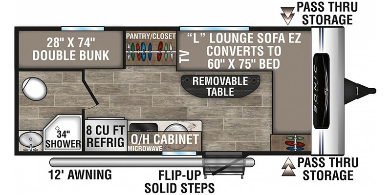 2021 VENTURE RV SONIC 160VBH Floorplan