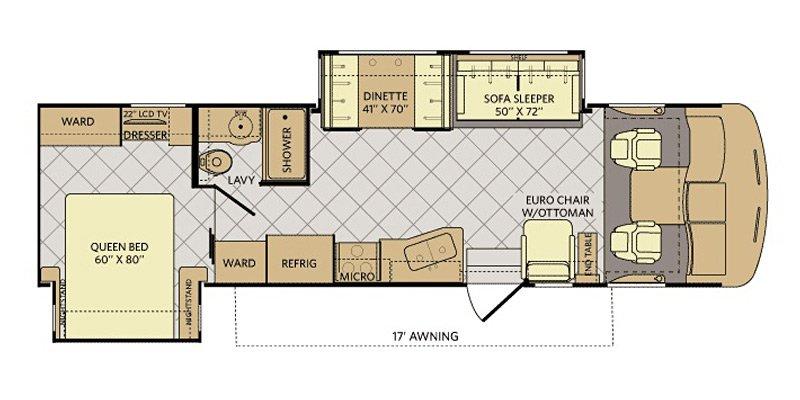 2015 FLEETWOOD CA SOUTHWIND 32V Floorplan
