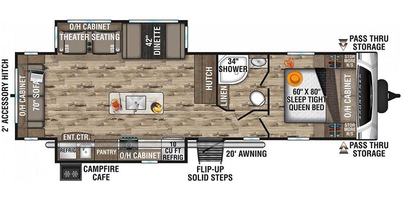 2021 VENTURE RV SPORT TREK 312VIK Floorplan