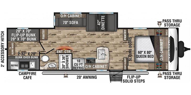 2022 VENTURE RV STRATUS 291VQB Floorplan