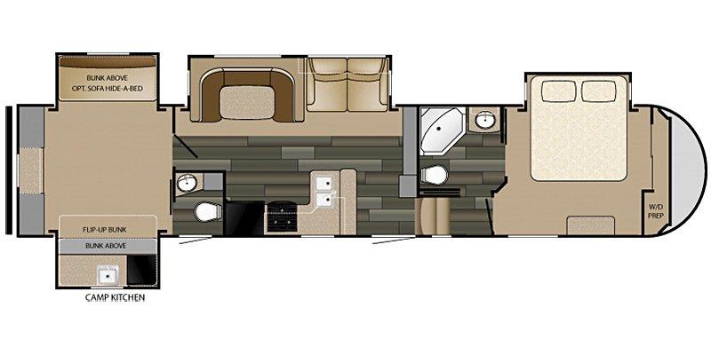 2015 HEARTLAND SUNDANCE 3600QB Floorplan
