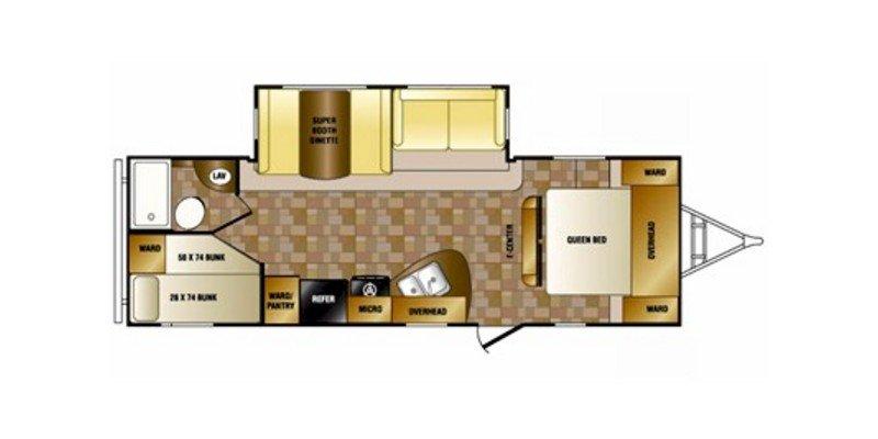 2012 CROSSROADS RV SUNSET TRAIL 26BH Floorplan