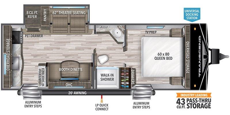 2022 GRAND DESIGN TRANSCEND 231RK Floorplan