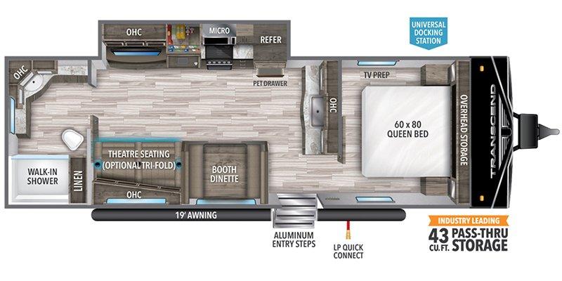 2022 GRAND DESIGN TRANSCEND 260RB Floorplan