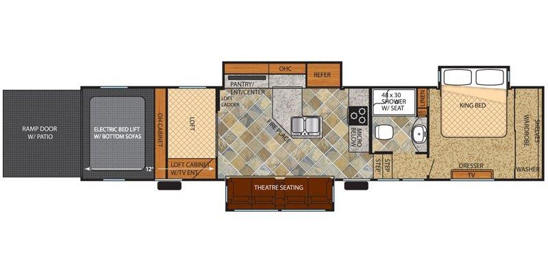2015 FOREST RIVER VENGEANCE 39R12 Floorplan
